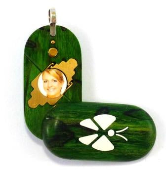3725 Thin Dyed Wormy Maple Wood Illusionist Locket
