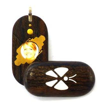 Load image into Gallery viewer, 3727 Thin Zircote Wood Illusionist Locket