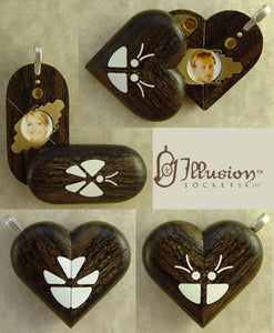 3727 Thin Zircote Wood Illusionist Locket