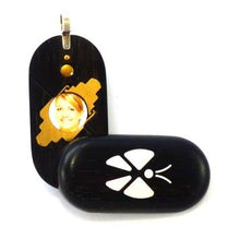 Load image into Gallery viewer, 3780 Thin Ebony Wood Illusionist Locket