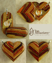 Load image into Gallery viewer, 3812 Thin No Image Wood Illusionist Locket