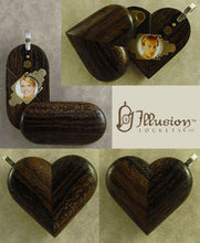 Load image into Gallery viewer, 4009 Thin Zircote Wood Illusionist Locket