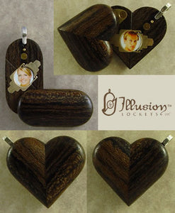 4009 Thin Zircote Wood Illusionist Locket