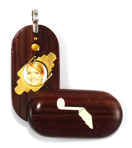 4362 Thin Music Note - Dove Kingwood Illusionist Locket