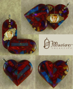 4386 Thin Acrylic Illusionist Locket