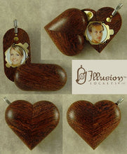 Load image into Gallery viewer, 4579 Slim No Image Camelthorn Wood Illusionist Locket