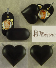 Load image into Gallery viewer, 4584 Slim No Image Ebony Wood Illusionist Locket