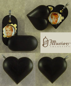 4584 Slim No Image Ebony Wood Illusionist Locket