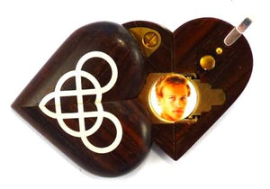 4767 Thin Coco Bolo Wood Double Infinity Illusionist Locket