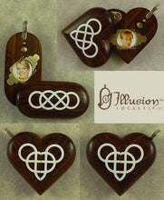 Load image into Gallery viewer, 4767 Thin Coco Bolo Wood Double Infinity Illusionist Locket