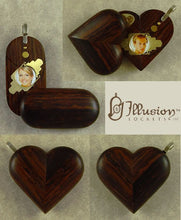 Load image into Gallery viewer, 4842 Thin Coco Bolo Wood Illusionist Locket
