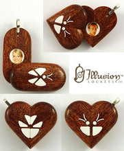 Load image into Gallery viewer, 4946 Natural Camelthorn Wood Illusionist Locket