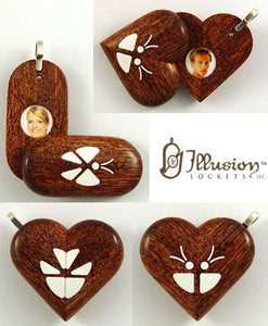 4946 Natural Camelthorn Wood Illusionist Locket