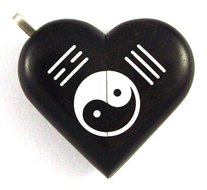 4971 Natural Yin Yang Ebony Wood Illusionist Locket
