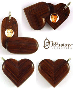 5035 Natural Honduras Rosewood Illusionist Locket