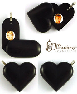 5050 Natural Ebony Wood Illusionist Locket