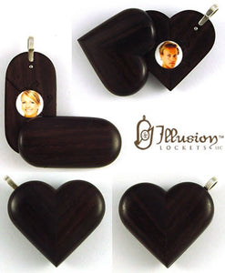 5051 Natural East Indian Rosewood Illusionist Locket