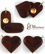 Load image into Gallery viewer, 5068 Natural Honduras Rosewood Illusionist Locket