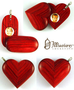 5069 Natural Wood Illusionist Locket
