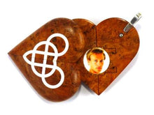 Load image into Gallery viewer, 5082 Natural Cherry Burl Wood Double Infinity Illusionist Locket