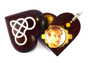 5167 Slim Coco Bolo Wood Double Infinity Illusionist Locket