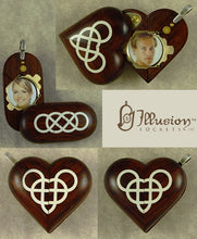 Load image into Gallery viewer, 5167 Slim Coco Bolo Wood Double Infinity Illusionist Locket