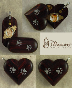 5196 Thin Paw Print Illusionist Locket