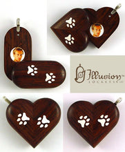 Load image into Gallery viewer, 5218 Natural Paw Print Illusionist Locket