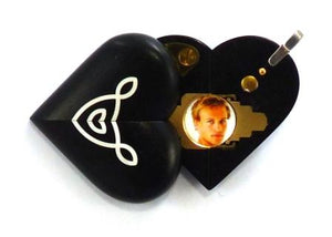 5226 Thin Ebony Wood Celtic Knot Illusionist Locket
