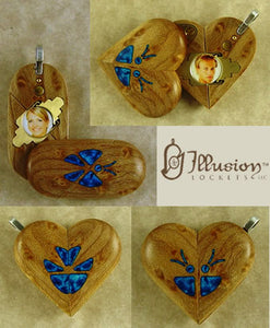 5312 Thin Birdseye Maple Wood Illusionist Locket