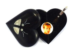 5408 Natural Ebony Wood Illusionist Locket