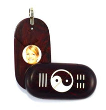 Load image into Gallery viewer, 5428 Natural Coco Bolo Yin Yang Illusionist Locket
