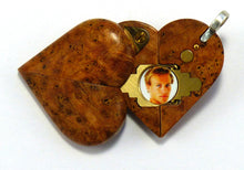Load image into Gallery viewer, 5499 Thin Cherry Burl Wood Illusionist Locket