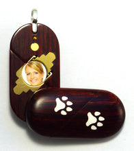 Load image into Gallery viewer, 0028 Thin Dog Cat Paw Print Illusionist Locket