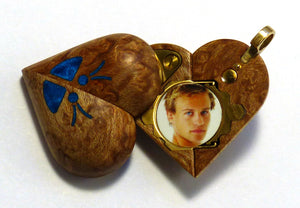 B36 Birdseye Maple Illusionist locket with Secret Compartments