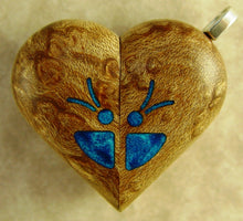 Load image into Gallery viewer, B36 Birdseye Maple Illusionist locket with Secret Compartments