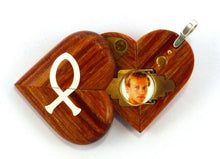 Load image into Gallery viewer, 4123 Thin Cross Locket That Transforms Into Christian Fish Illusionist Locket