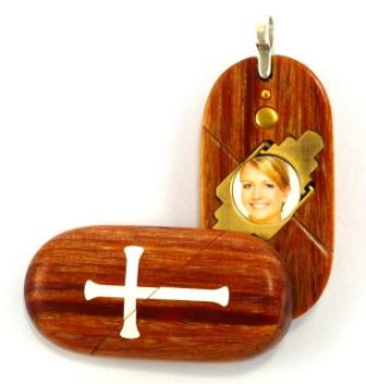 4123 Thin Cross Locket That Transforms Into Christian Fish Illusionist Locket