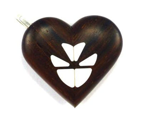 0017 Natural Butterfly Illusionist Locket Darker Coco Bolo Wood