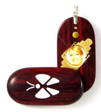 Load image into Gallery viewer, 0005 Thin Butterfly Illusionist Locket Rosewood Burgundy