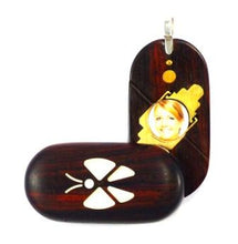 Load image into Gallery viewer, 0003 Thin Butterfly Illusionist Locket Darker Coco Bolo Wood