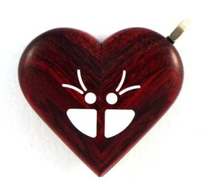 0005 Thin Butterfly Illusionist Locket Rosewood Burgundy