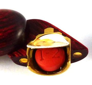 B121 Birdseye Maple Wood Cremation Ash Double Infinity Locket With Secret Compartments