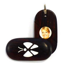 Load image into Gallery viewer, 0017 Natural Butterfly Illusionist Locket Darker Coco Bolo Wood