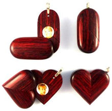 Load image into Gallery viewer, 0019 Natural No Image Illusionist Locket Rosewood Burgundy