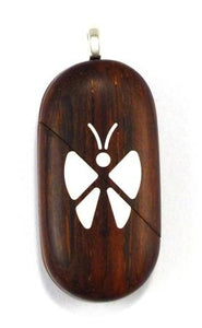 0002 Thin Butterfly Illusionist Locket Lighter Coco Bolo Wood