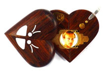 Load image into Gallery viewer, 0002 Thin Butterfly Illusionist Locket Lighter Coco Bolo Wood