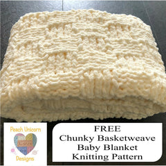 Basketweave Chunky Baby Blanket FREE Knitting Pattern - Beginner