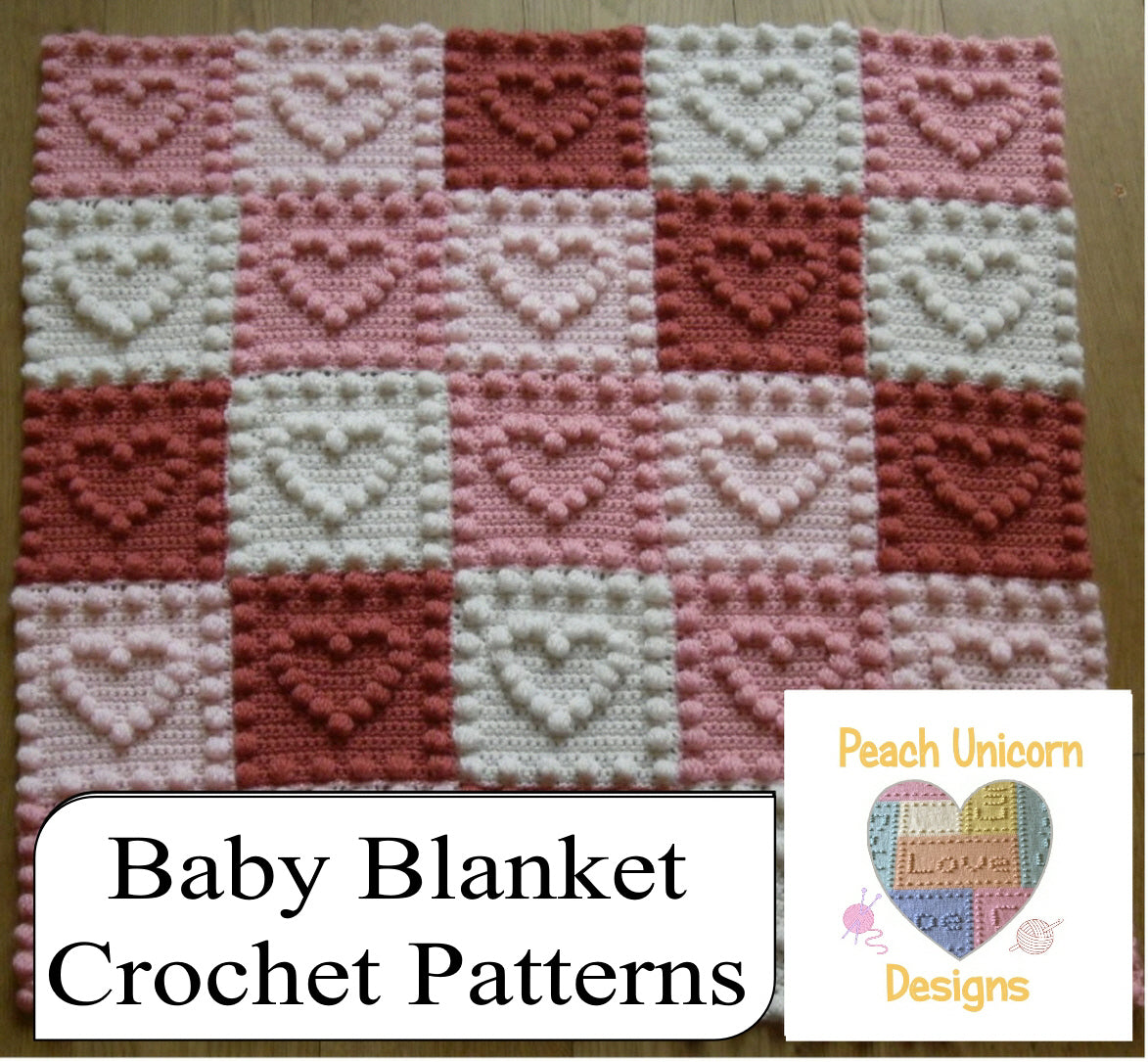 20 Baby Blanket Crochet Patterns Peach Unicorn Designs Peach Unicorn Designs Knitting Crochet Patterns
