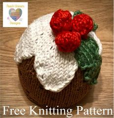 FREE Christmas Pudding Knitting Pattern - Worked Flat